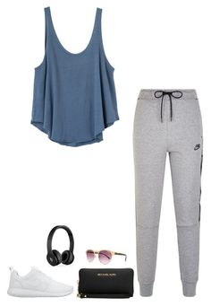 """Bez tytułu #372"" by ola-smigielska ❤ liked on Polyvore featuring RVCA, NIKE, Michael Kors, Lipsy and Beats by Dr. Dre"