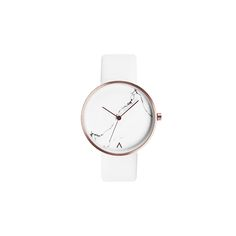 real marble white watch minimal style