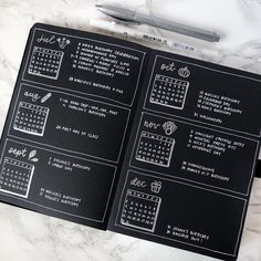 We have gone looking for the most inspirational Black Out journal spreads, for your black out notebook! 31 amazing spreads to inspire alternative creativity Bullet Journal Key, Bullet Journal Aesthetic, Bullet Journal Spread, Bullet Journal Ideas Pages, Bujo, Planner Diario, Dot Grid Notebook, Black Bullet, Planners