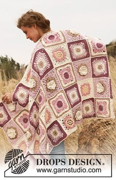 "Like A Wildflower by DROPS Design Virkattu DROPS peitto ""Paris""-langasta."