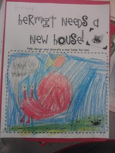 Primary Reading Party: A House for Hermit Crab Freebie