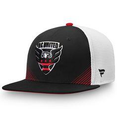 007c691f7779b Men s D.C. United Fanatics Branded Black White Iconic Adjustable Snapback  Hat