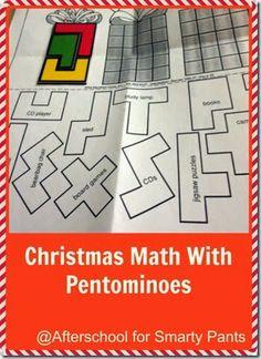 Fun Christmas #Math Challenge for #ElementarySchool with Pentominoes