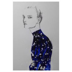 midnight is blue #fashionillustration#fashion #fashionart #fashiondrawing #art #artes #midnightblue#drawing #instaart #inspiration #illustration#karnkarnillustration