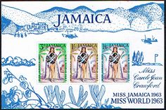 Jamaica 1964 Miss World Miniature Sheet Fine Mint SG MS 216a Scott 207a Other Mini Sheets HERE