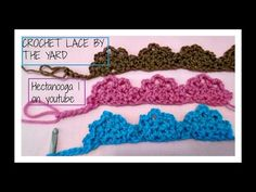 How to crochet lace by the yard, edging, trim, embellishment, crochet as much as needed end to end. How to crochet lace by the yard, crochet as much as needed end to end lace, edging, trim, embellishment, --MORE CROCHET TRIMS: ... --CROCHET LACE: ...