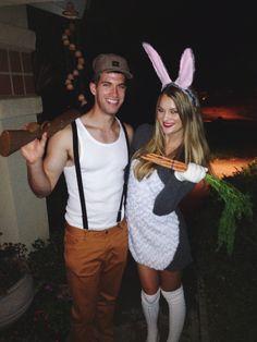 Bugs Bunny and Elmer Fudd couples Halloween costume