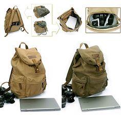 SLR DSLR Camera Backpacks Laptop Rucksacks Bag Canon Nikon Sony Padded Insert | eBay