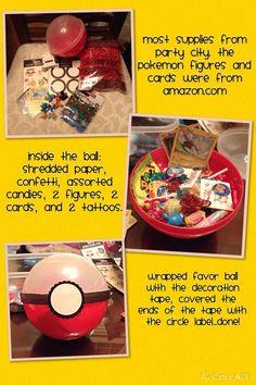 Pokemon party favor, birthday party idea.