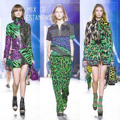 Mix de estampas e tecidos- Coleção Versace MFW SS/2016