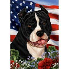 Tamara Burnett Patriotic Pit Bull Flag