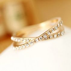Simple Beads Round Ring For Women