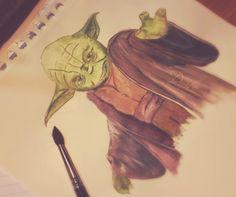 Petite peinture 🎨 du soir avec Maître Yoda !