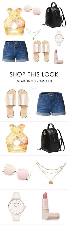 """Summer Vibes"" by hannahgracie ❤ liked on Polyvore featuring L.E.N.Y., LE3NO, Gucci, Abbott Lyon and Lipstick Queen"
