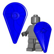 Kite Shield - $1.25. This awesome shield cannot fly...do not be mislead by the confusing name. Little pieces of plastic tend not to stay airborne for long. It is called a Kite Shield simply because it resembles the shape of a kite. It offers great protection for your medieval minifigures! #Lego #Minifigure #BrickWarriors #shield #fantasy #castle