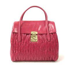 MiuMiu Pattina MATELASSE LUX bag in Peonia RN0927