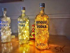 Luminária de garrafa Absolut