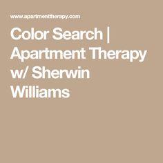 Color Search | Apartment Therapy w/ Sherwin Williams