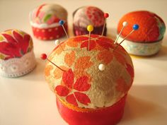 """Tiny pincushion tutorial You'll need:  • A bottle cap from a 2-liter pop bottle, or something with a larger diameter if you like, depending on what size cushion you want. It should be about 1/2"""" to 3/4"""" deep."""