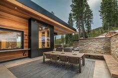 Sold Home 581 - Martis Camp: Lake Tahoe Luxury Community & Properties Mountain Home Exterior, Modern Mountain Home, Dream House Exterior, Hillside House, Hollywood Homes, Berg, Modern Buildings, Modern House Design, Custom Homes