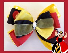 Disney Queen of Hearts Inspired Hair Bow by TwoByTuTuCreations, $8.50