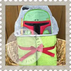 Galaxy Hunter hooded towel design. #Embroidery #Applique