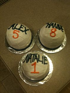 Volley Ball Cakes