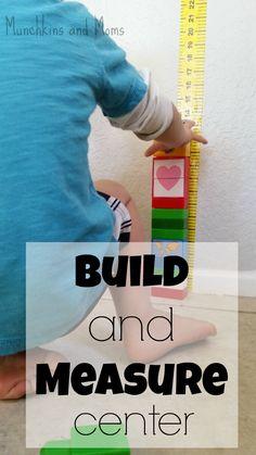Munchkins and Moms: Preschool Build and Measure Center Wat voor jou @nicole9823 ?