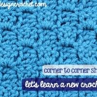 Corner-to-corner Shell Stitch September 2, 2014 by Rhondda 23 Comments ~ **Free Tutorial ~ Patience is required with this one, as there are 55 steps to learn the stitch**