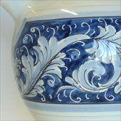 Rampini pottery in Renaissance Blue