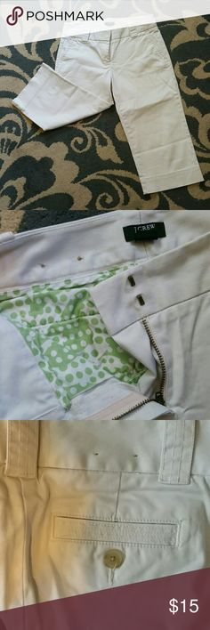 J. Crew stretch capris favorite fit size 0 Gorgeous condition, worn once or twice. Perfect for summer and would go great with other items in my closet :) J. Crew Pants Capris