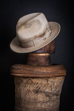 Nick Fouquet distress and painted fedora!  Bucket List being fitted by Nick Fouquet...LOVE LOVE his work!