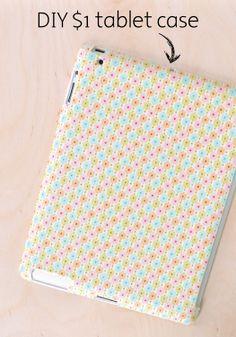 Easily make a custom DIY tablet case for only $1!