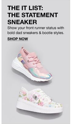ab9e5b4980a The it List, The Statement Sneaker, Show your front runner status with bold  dad sneakers and bootie styles, Shop Now #Macys #Fashion #Shoes #Boots ...