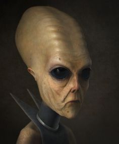 alien N. a citizen of another country,foreign,extremely strange - this alien would qualify as hostile just because it looks so weird Les Aliens, Aliens And Ufos, Ancient Aliens, Alien Creatures, Fantasy Creatures, Alien Concept, Concept Art, Larp, Creepy