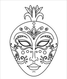 Venice Mask Coloring Page Beautiful For Kids Of All Ages