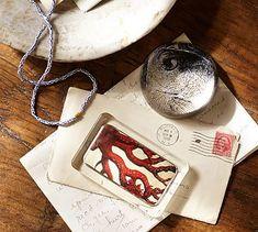 Curiosity Decoupage Paperweights #potterybarn