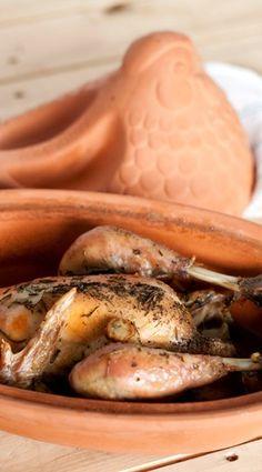 Kip uit de Römertopf Clay Pots, Banana, Fruit, Cooking, Om, Recipes, Mary, Weight Loss, Baking Center