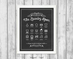 Original Guide to Procedures The Laundry Room  by letteredandlined, $23.50