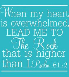 the Lord is my rock