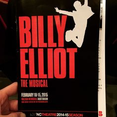 """""""Awesome first act of Billy Elliot at NC Theatre! #watchlocal #iwishiwasadancer #nctheatre #billyelliot""""  www.shoplocalraleigh.org"""