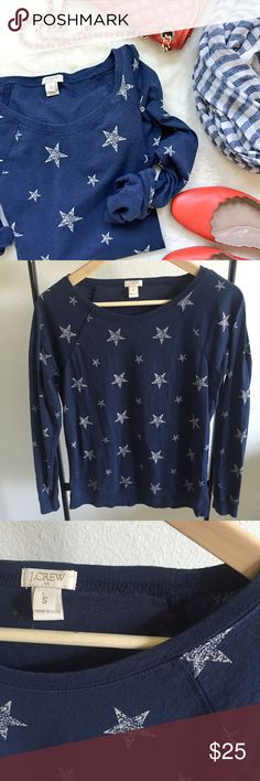 ✨NEW LISTING✨ J. Crew Sweatshirt Navy and white stars J. Crew sweatshirt. Size small.   Please make all offers through the offer button  ✨10%✨off with bundle!  ⭐️Suggested User⭐️ Fast Shipping Non-Smoking No trades/PayPal Open to fair offers Instagram: laurentopor Tumblr: nearlynewbylo  ✨ Happy Poshing ✨ J. Crew Sweaters Crew & Scoop Necks