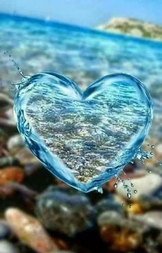 DIY Diamond Painting Kits for Adults Full Drill Embroidery Pictures Arts Crafts for Home Wall Decor Water Drop Heart 1 by Loxfir Love Heart Images, Heart Pictures, I Love Heart, Nature Pictures, Heart In Nature, Heart Art, Ocean Heart, Heart Wallpaper, Love Wallpaper