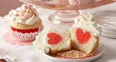 Surprise Raspberry Heart Cupcakes: Impress your family with some Valentine%u2019s Day magic with cupcakes that hide a heart-shaped surprise.