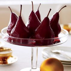 Wine-Poached Pears  #christmas #holiday #recipes