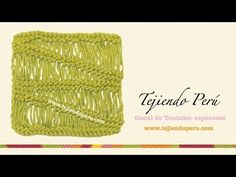 Punto vainilla en degrade (tejido en dos agujas) - YouTube