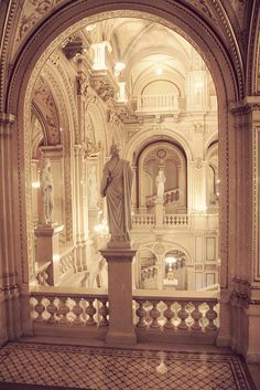 The Opera house in Vienna, Austria.