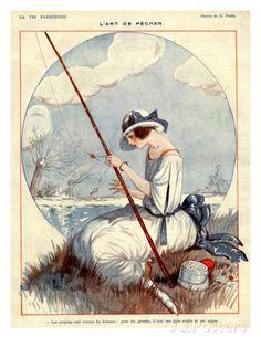 La Vie Parisienne, Georges Pavis, 1922, France Art at AllPosters.com
