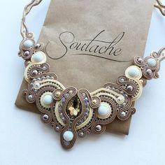 Soutache Pendant, Soutache Necklace, Shibori, Handmade Necklaces, Handmade Jewelry, Boho Jewelry, Jewelry Design, Ribbon Work, Polymer Clay Charms