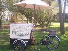 Ice cream wedding cart